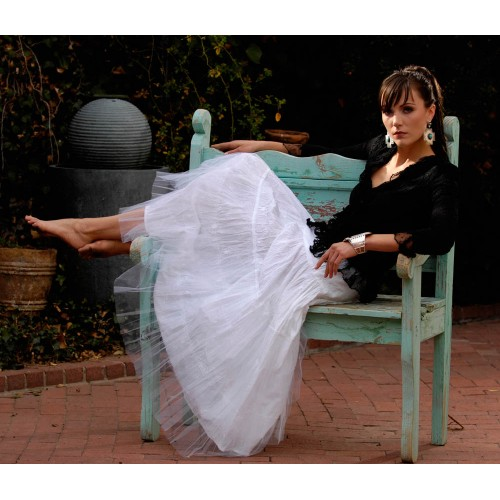 Tea Length Rodeo Cinderella Skirt by Marrika Nakk