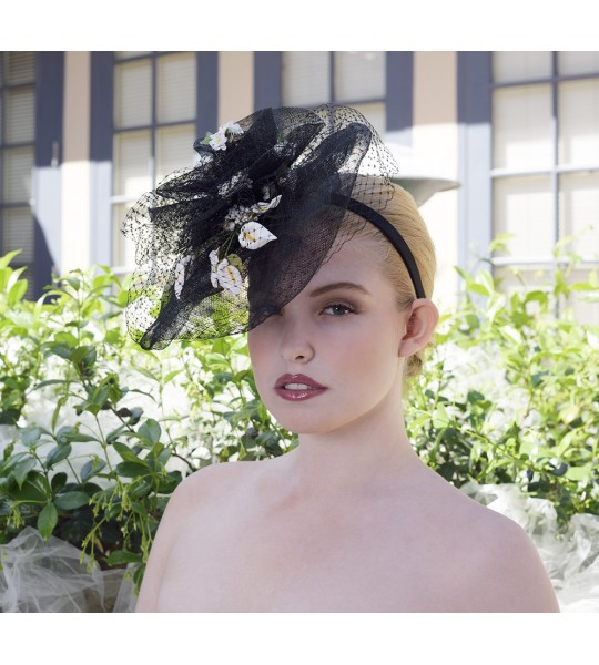 Lady Greta Fascinator by Louisa Voisine Millinery