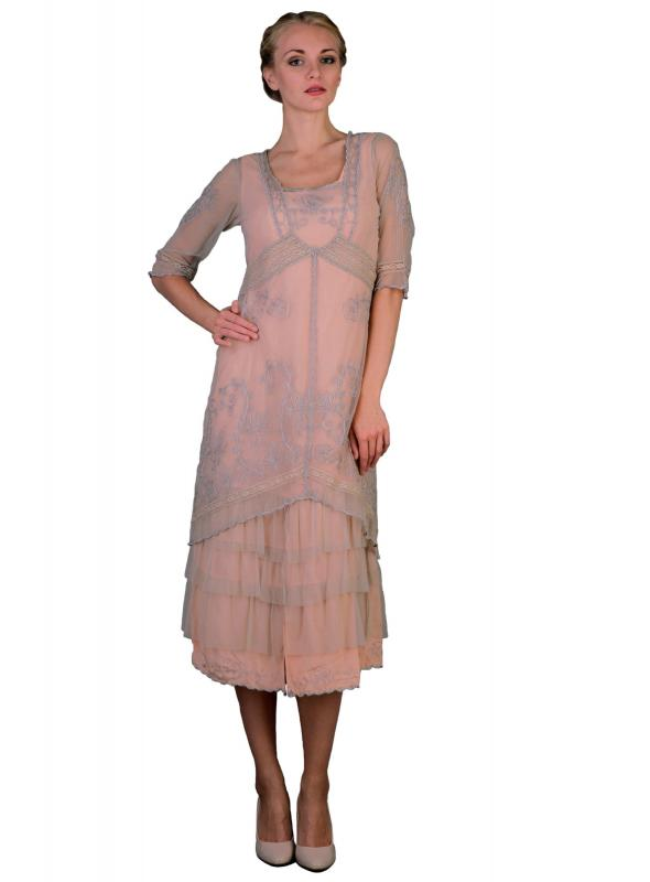 Titanic Tea Party Dress in Antique Pink by Nataya