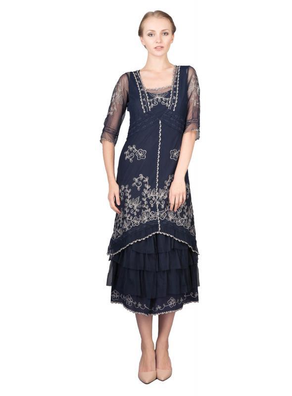 Titanic Tea Party Dress in Sapphire by Nataya
