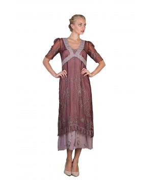 New Vintage Titanic Tea Party Dress in Garnet by Nataya