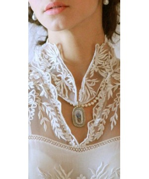 Victorian Inspired Bridal Neck Ornament by Nataya - SOLD OUT