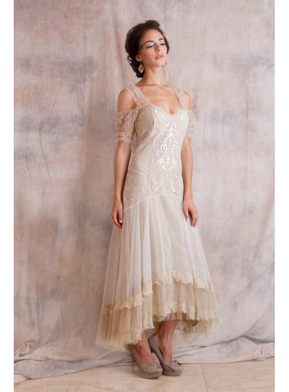 Venetian Wedding Dress in Cream by Nataya