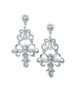 Vintage Ribbon Crystal Chandelier Earrings