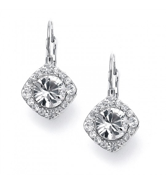 Tailored Solitaire Drop Earrings