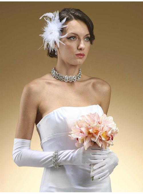 Above Elbow Bridal or Prom Gloves in Matte Satin