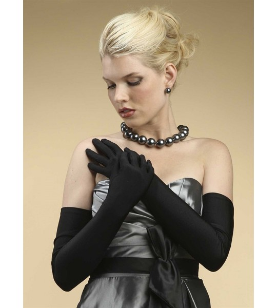 Opera Length Wedding or Prom Gloves - Shiny Satin
