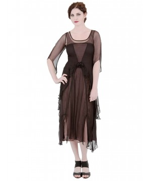 Great Gatsby Dress AL-10709 in Black Coco