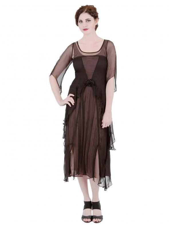 Great Gatsby Dress AL-10709 in Black Coco