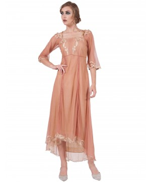 40147 Rose/Gold Tulle Empress Nataya Dress