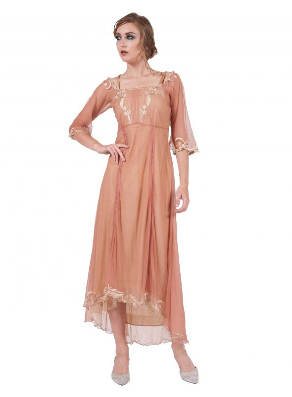 Tulle Empress Tea Party Dress in Rose/Gold by Nataya