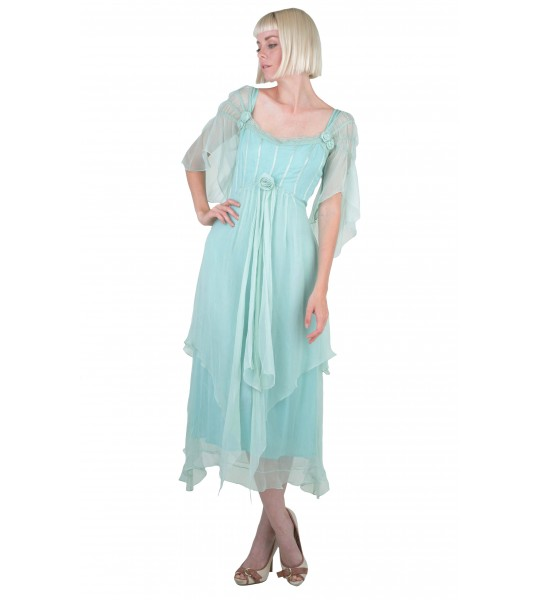 Othelia Off-Shoulder Summer Party Dress in Mint by Nataya