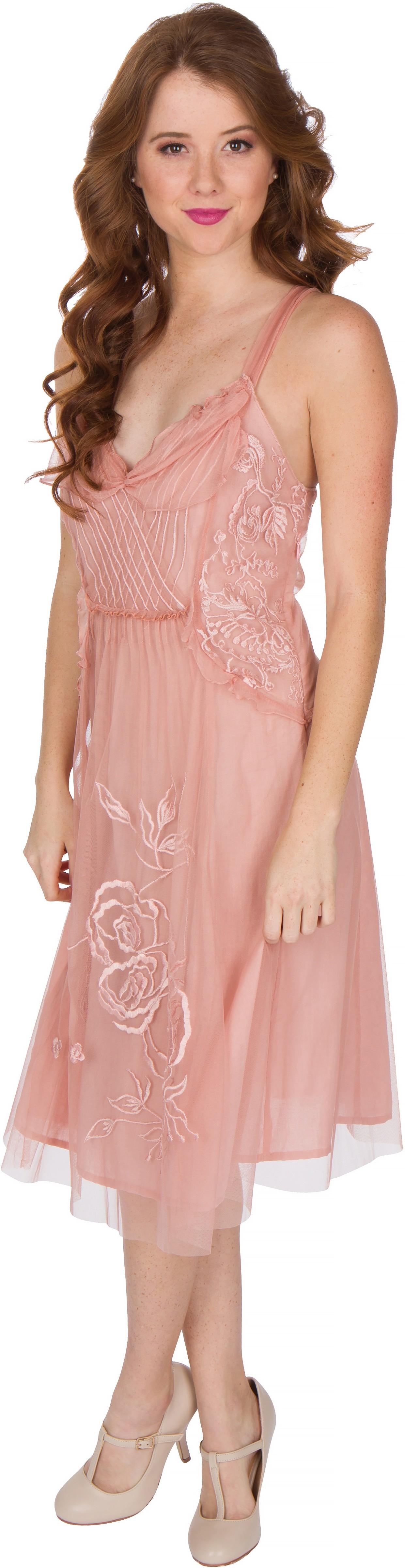Alana Vintage Style Party Dress in Soft Pink by Nataya
