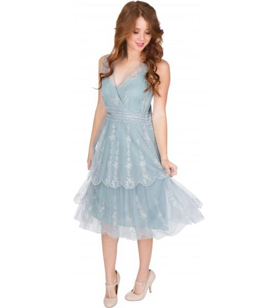 Gianna AL-235 Vintage Style Party Dress in Sunrise by Nataya