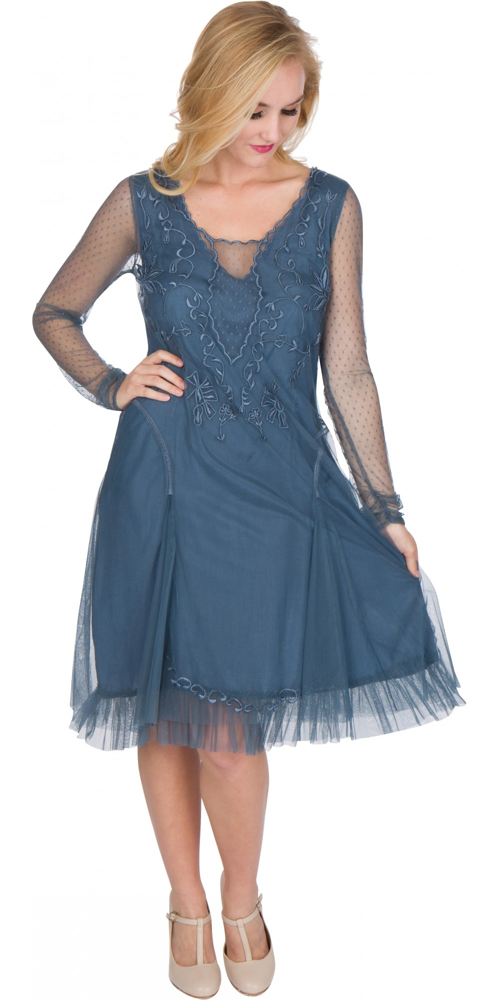 Nataya AL-252 Serenity Vintage Style Party Dress in Sapphire - NEW ...