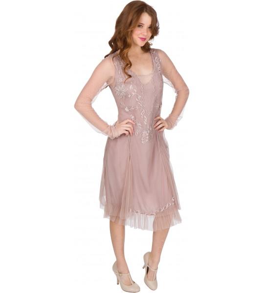 Serenity AL-252 Vintage Style Party Dress in Amethyst by Nataya