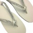 Vintage Style Bridal Starfish Flip Flops