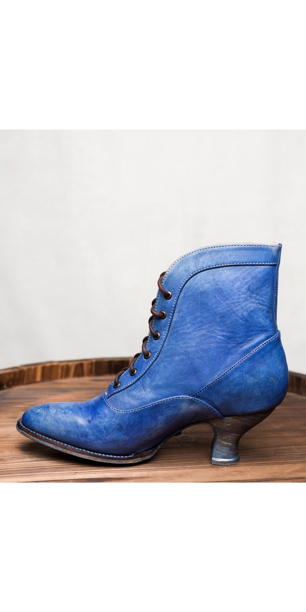 Jacquelyn Vintage Style Victorian Lace Up Leather Boots In