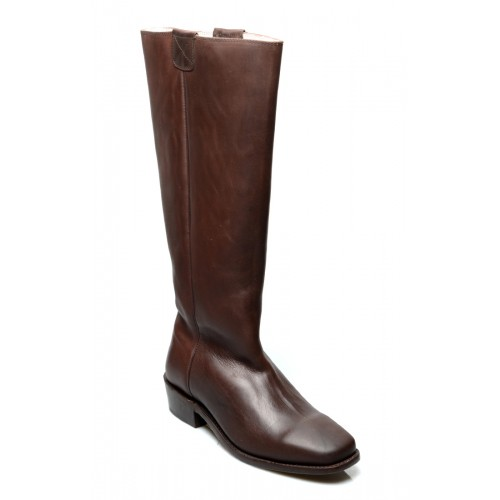 Vintage Style Granny Boots in Brown
