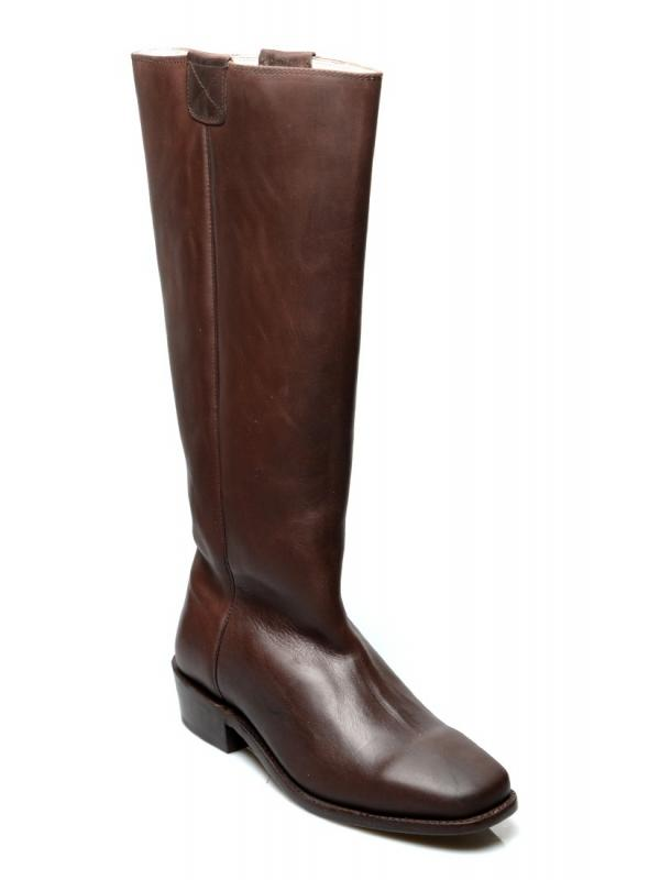 Vintage Style Granny Boots in Brown by Oak Tree Farms