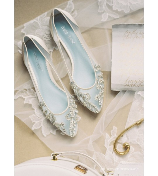 Vintage Wedding Shoes, Flats, Boots, Heels Willow Vintage Inspired Bridal Flats $315.00 AT vintagedancer.com