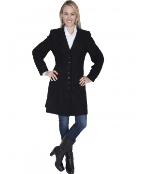 Western Style Wool Frock Coat in Black by Scully Leather