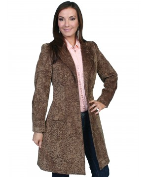 Western Style Chenille Frock Coat in Cafe by Scully Leather