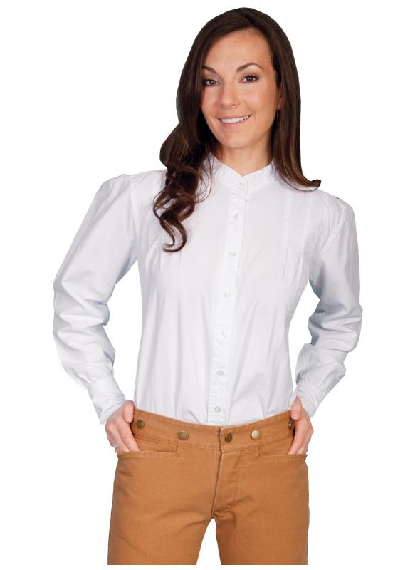 Rangewear Western Style Blouse in White by Scully Leather