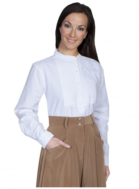 Rangewear Victorian Style Blouse in White by Scully Leather