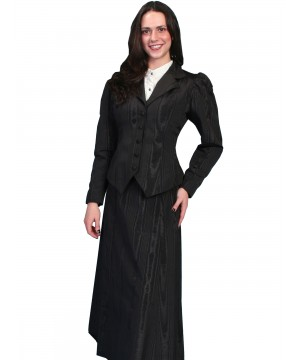 3184d383c4981 Victorian Style Five Gore Walking Skirt in Black Victorian Style Five Gore  Walking Skirt in Black