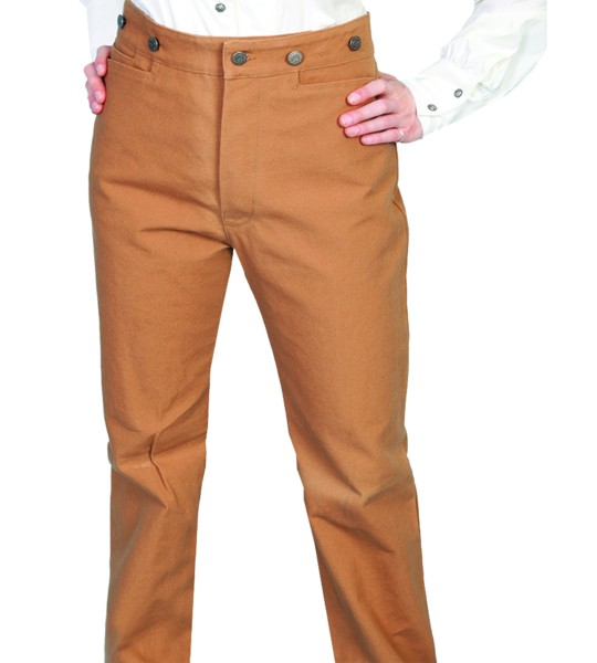 Wahmaker Victorian Style Canvas Pants in Brown by Scully Leather