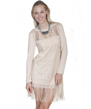Honey Creek Prairie Lace Bridal Dress in Natural by Scully Leather