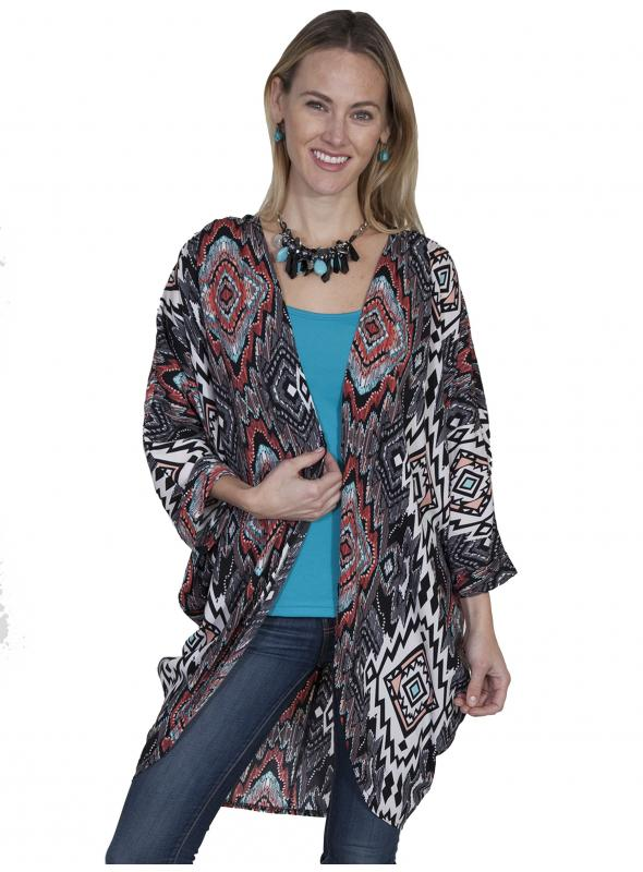 Prairie Lighweight Cover-Up in Multi by Scully Leather
