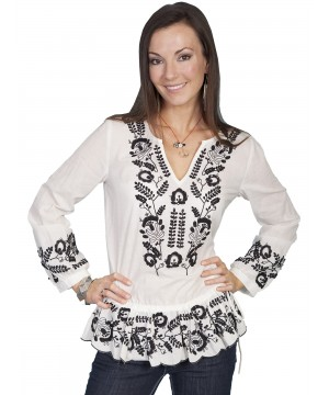 Honey Creek Western Inspired Tunic in Natural by Scully Leather