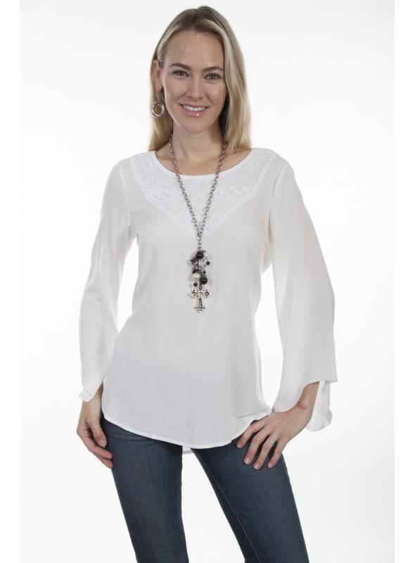 Honey Creek Rustic Bridal Tunic in Ivory by Scully Leather