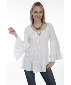 Honey Creek Country Chic Wedding Blouse in Ivory by Scully Leather