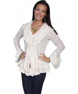 Honey Creek Caribbean Breeze Cotton Blouse in Natural by Scully Leather