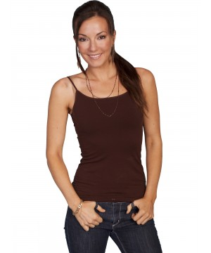 Honey Creek Spring Star Seamless Camisole in Chocolate by Scully Leather