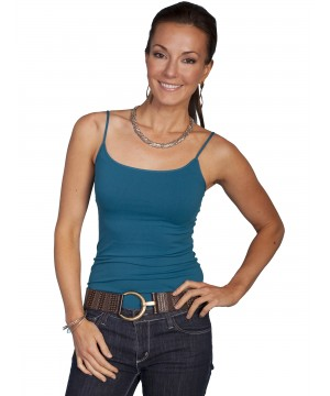 Honey Creek Spring Star Seamless Camisole in Teal by Scully Leather