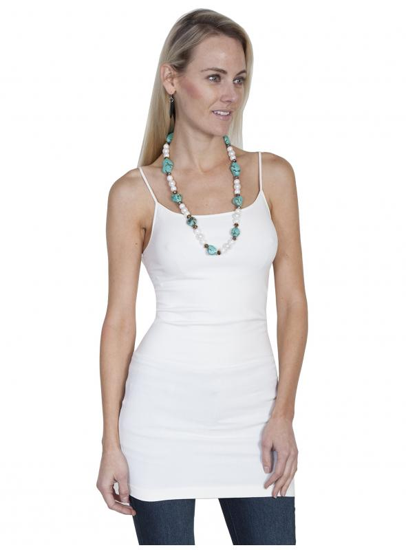 Honey Creek Spring Star Seamless Slip in Ivory by Scully Leather