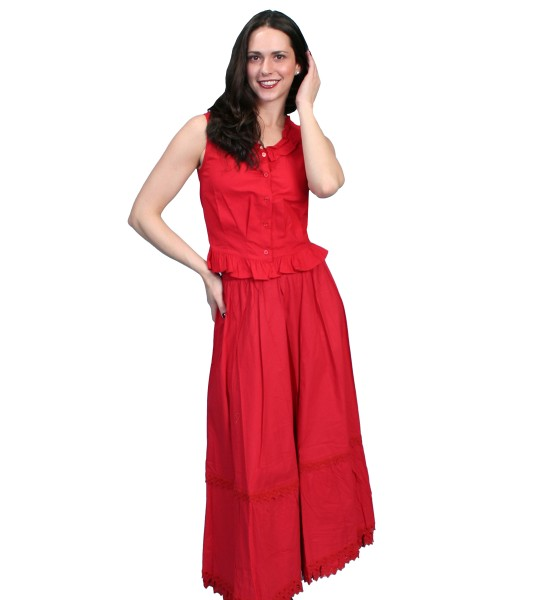Rangewear Victorian Style Petticoat in Red by Scully Leather