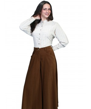 Rangewear Farmhouse Split Skirt in Brown by Scully Leather