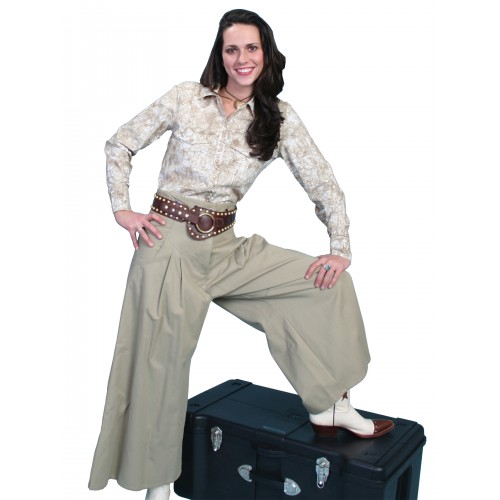Cowgirl Horse Riding Long Trousers in Tan