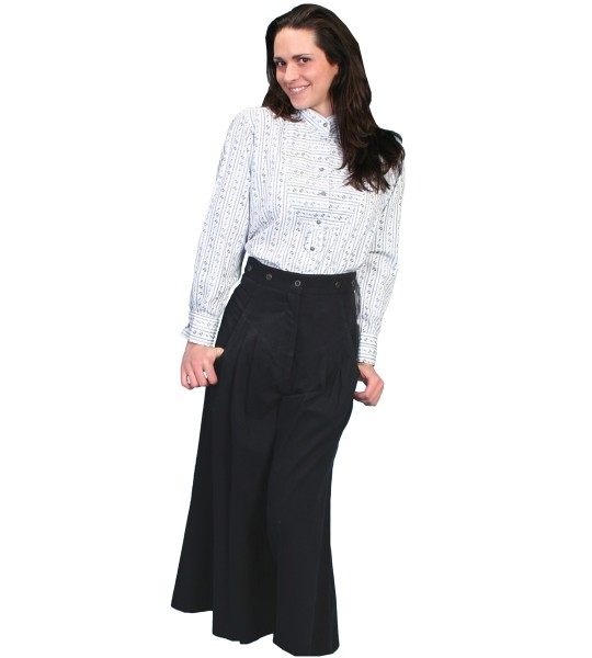 Rangewear Cowgirl Horse Riding Shortened Trousers in Black by Scully Leather