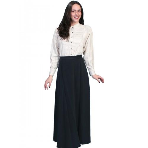 Classic Victorian Five Gore Skirt in Black