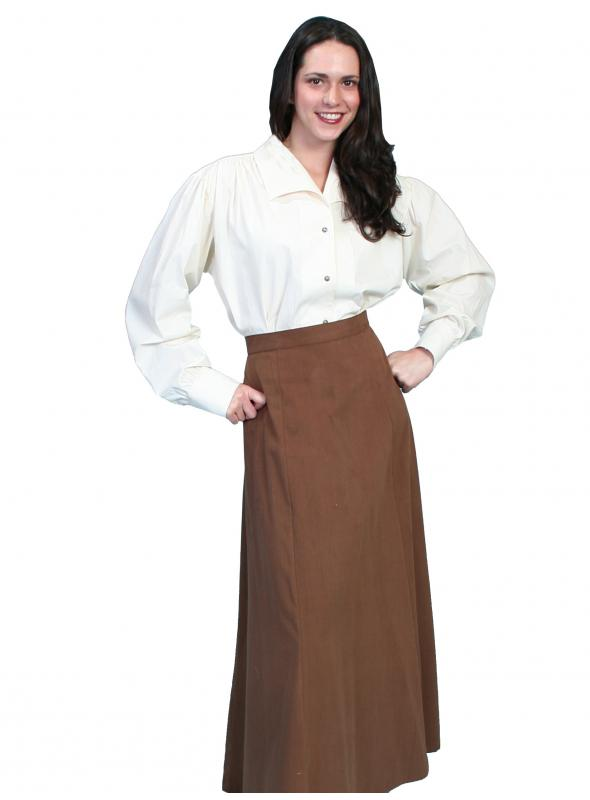 Rangewear Classic Victorian Five Gore Skirt in Brown by Scully Leather