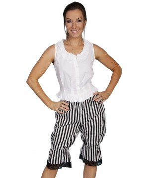 Rangewear Victorian Style Striped Bloomers in Black by Scully Leather