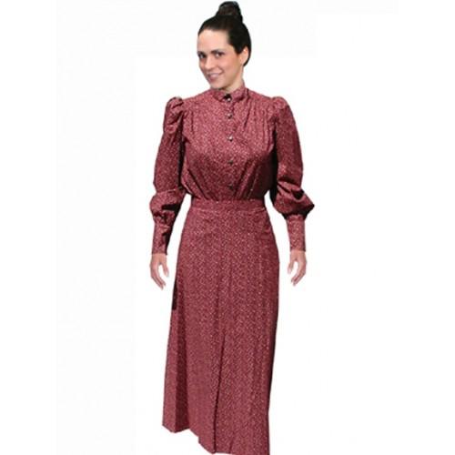 Victorian Style Walking Skirt in Burgundy
