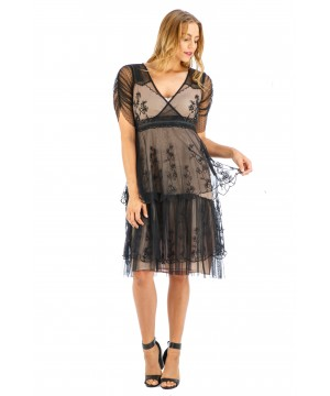 Zoey Vintage Style Party Dress in Onyx by Nataya