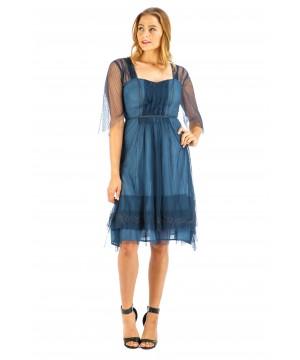 Chloe Vintage Style Party Dress in Indigo by Nataya